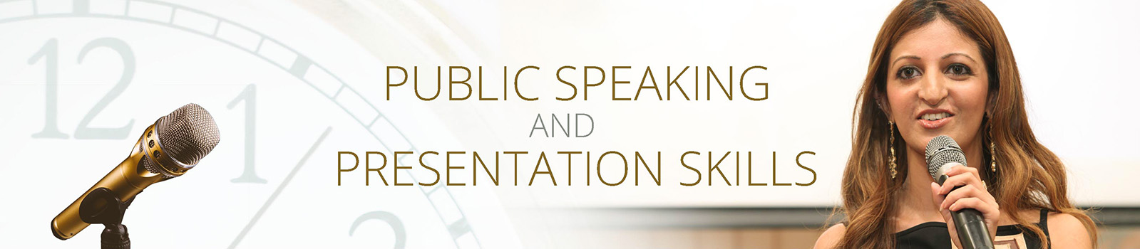 Public Speaking and Presentation Skills Banner