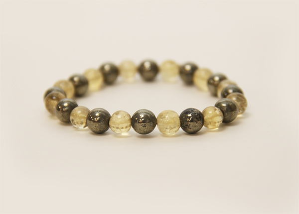 Citrine And Pyrite Bracelet